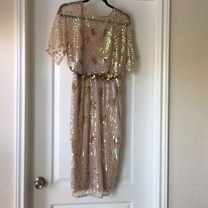 6944953233a ASOS Dresses - Asos Midi Red Carpet kimono  Holographic sequins